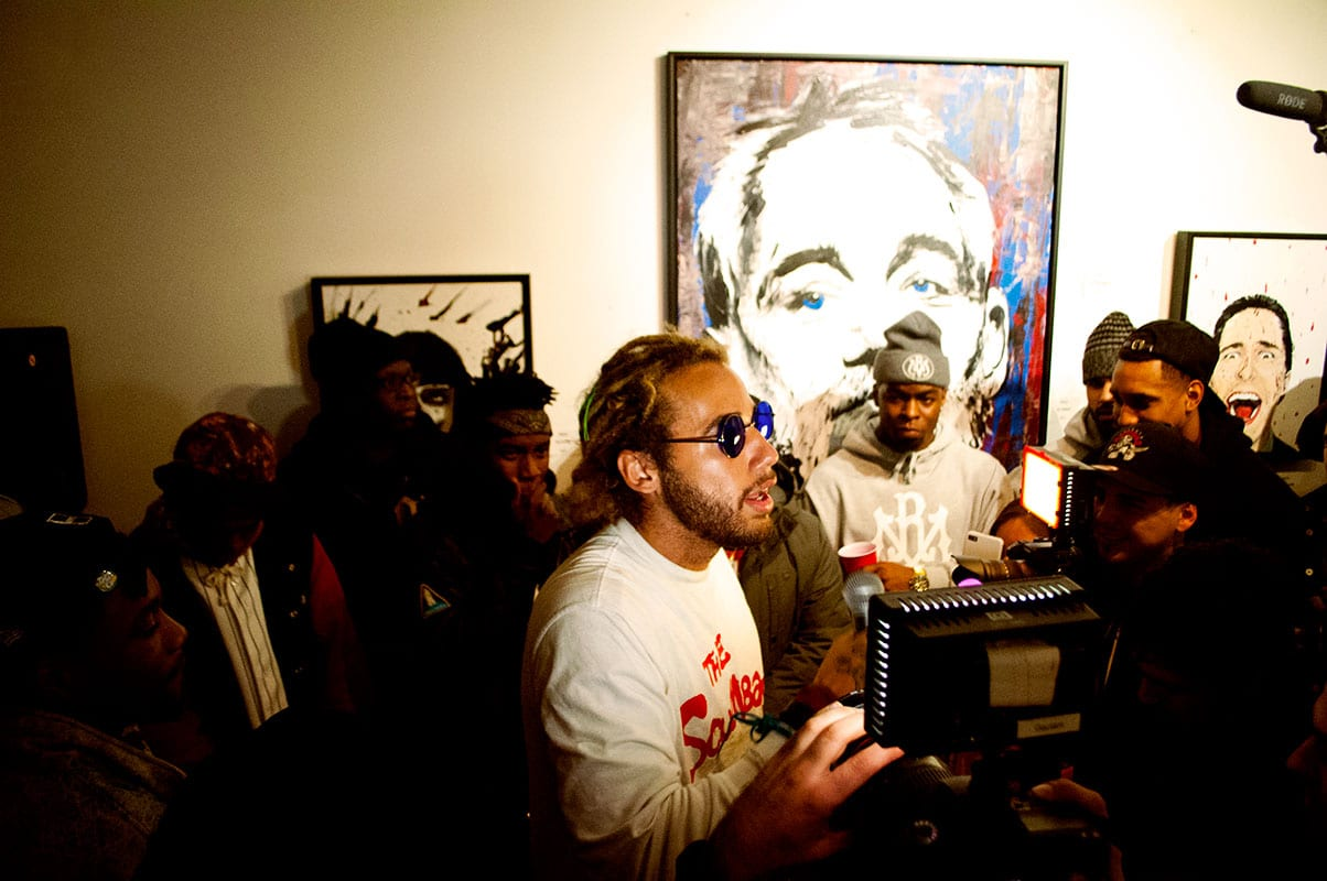 Dillan Ponders Young Lords Cypher at 416 Gallery