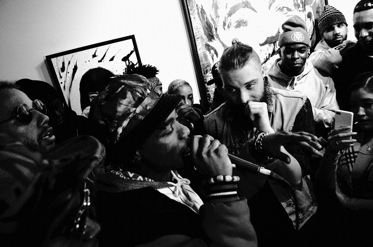 Toronto Rappers Young Lords Cypher at 416 Gallery